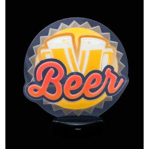 Abajur Colorido - Beer