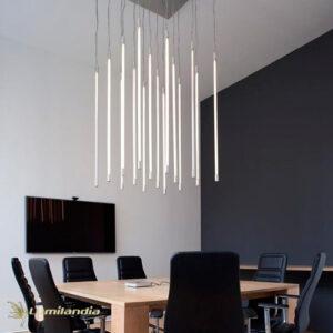 Pendente Tubular para 4 Lâmpadas Tubo LED Vertical