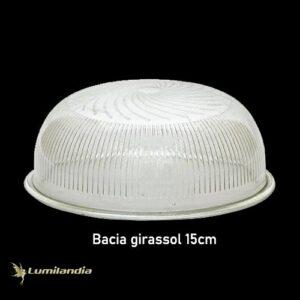 Cúpula de Vidro Bacia Girassol Espiral para Luminária