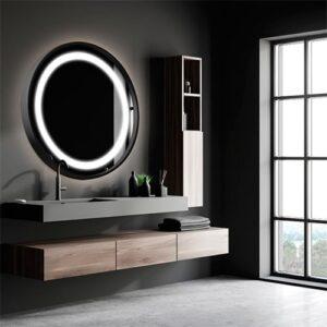 Espelho com Luz de LED Redondo Recuado