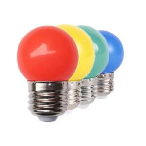 Lâmpada Bolinha colorida LED G45 1W