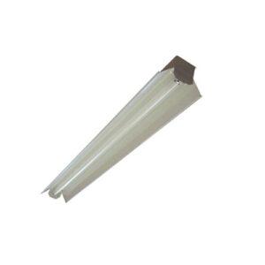 Luminária Calha Simples de Sobrepor com Refletor Branco
