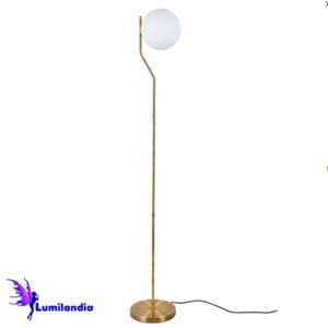 Luminária de Chão Moderna Haste com Globo de Vidro Caseres
