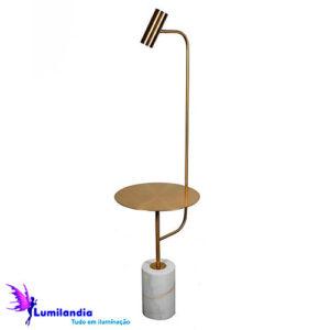 Luminária de Chão com Mesa e Spot Direcional