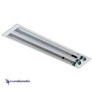 Luminária de Embutir Retangular Refletor de Alumínio Alto Brilho – Para TuboLED T8