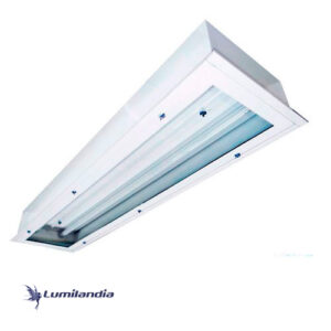 Luminária de Embutir Hermética Sala Limpa – Para TuboLED T8 2x18w, 4x9w, 4x18W