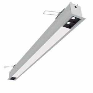 Luminária de Embutir Linear Enfoca Misto com 2 Focos - LED Integrado