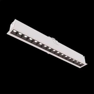 Luminária de Embutir Linear Enfoca Misto com Foco - LED Integrado