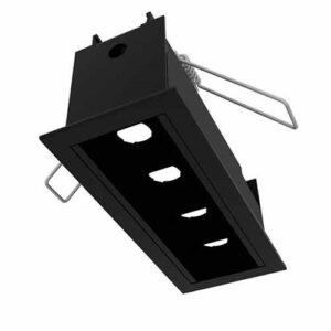 Luminária de Embutir Sistema Embutido Enfoca com 2 ou 4 Focos - LED Integrado