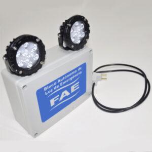 Luminária de Emergência Bloco Autônomo com 2 Spots LED