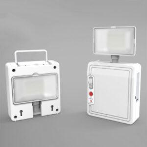 Luminária de Emergência Autônoma Compacta 1 Projetor LED
