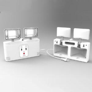 Luminária de Emergência Autônoma Compacta 2 Projetores LED