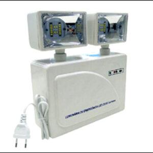 Luminária Autônoma Luz de Emergência 2 Projetores LED - 3000 Lúmens