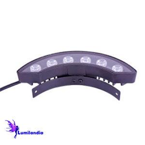 Luminária de LED Externa Curvo Meia Lua