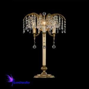 Luminária de Mesa Abajur Candeeiro Royal com Cristal Asfour