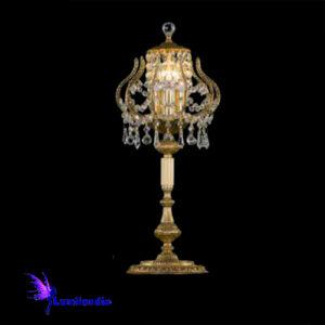 Luminária de Mesa Abajur Candeeiro Royal Rincho com Cristal Asfour