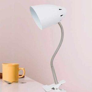 Luminária de Mesa Abajur com Cúpula Articulável - Com Garra