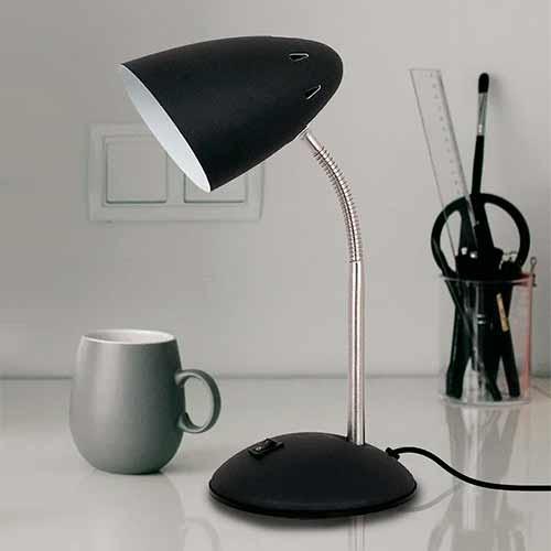 Luminária de Mesa Abajur com Cúpula Articulável