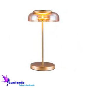 Luminária de Mesa Abajur Moderno Disko - LED Integrado