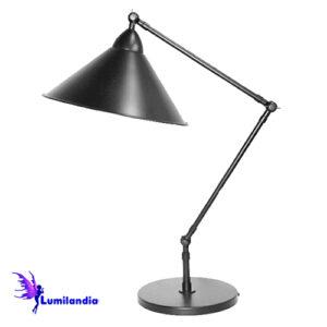 Luminária de Mesa Articulada Rourell com Cúpula Metálica