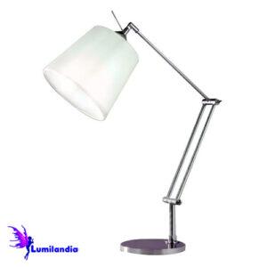 Luminária de Mesa Articulada Emborda com Cúpula de Tecido