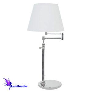 Luminária de Mesa Articulada Secuita com Cúpula de Tecido