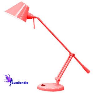 Luminária de Mesa Nulles Regulável - Vermelha