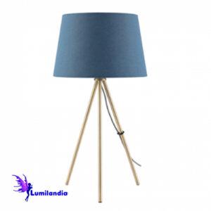 Luminária de Mesa Tripé com Cúpula de Tecido Coll