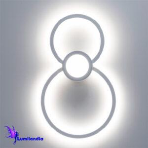 Luminária de Parede Arandela LED Círculos Bent