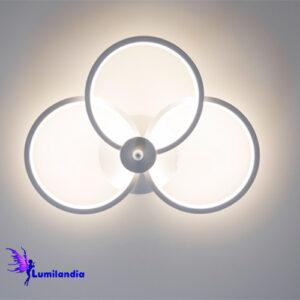 Luminária de Parede Arandela LED 3 Círculos Bent