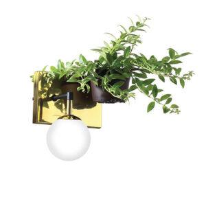 Luminária de Parede Arandela com 1 Globo e 1 Vaso