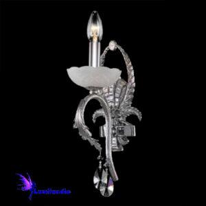 Luminária de Parede Arandela Alabastro Castellar Cromado