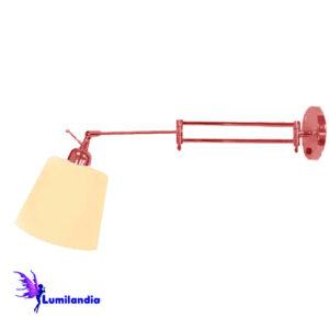 Luminária de Parede Arandela Articulada Emborda com Cúpula de Tecido
