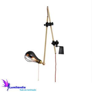 Luminária de Parede Arandela Articulada Mecânica