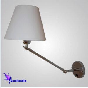 Luminária de Parede Arandela Articulada Angle com Cúpula de Tecido