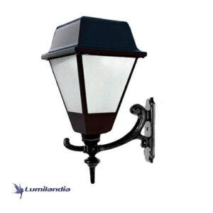Arandela Clássica Colonial Quadrada Luz Rebatedora