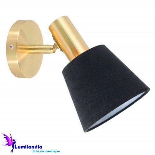 Luminária de Parede Arandela Slim com Cúpula Direcional