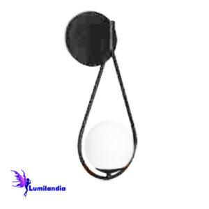 Luminária de Parede Arandela Cuetas Gota com 1 Globo de Vidro