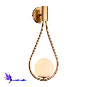 Luminária de Parede Arandela Gota Moderna Cunit com Globo de Vidro