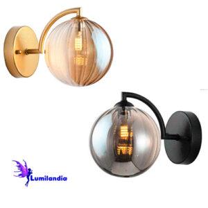 Luminária de Parede Arandela de Vidro Moderno Bola Tot