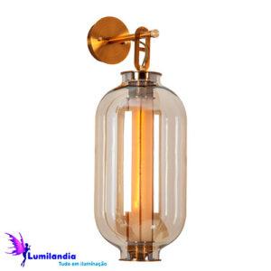 Luminária de Parede Arandela de Vidro Bretanha Cilíndrico