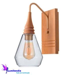 Luminária de Parede Arandela de Vidro Cônica