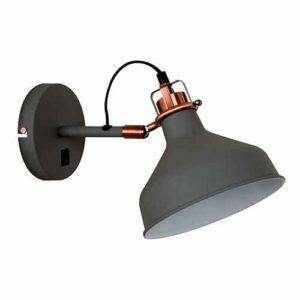 Luminária de Parede Arandela em Metal Cúpula Móvel