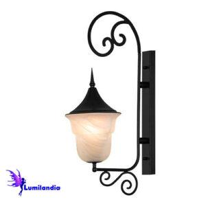 Luminária de Parede Arandela Externa Alabastro Modelo 1