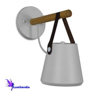 Luminária de Parede Arandela Galleda Cúpula com Fita de Couro