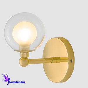 Luminária de Parede Arandela Moderna Grava com Globo de Vidro