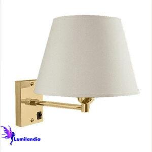 Luminária de Parede Arandela Xerta com Cúpula em Tecido