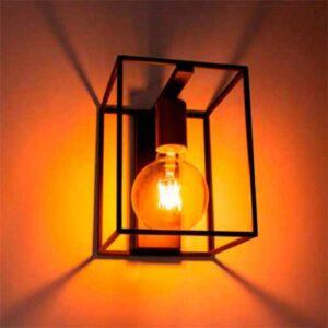 Luminária de Parede Arandela Lanterna Quadrada