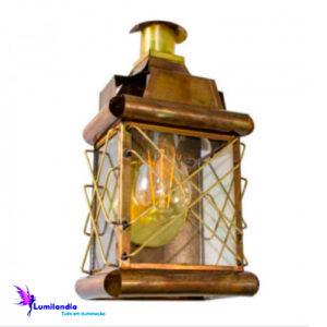 Luminária de Parede Lanterna Artesanal Árgelina