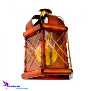 Luminária de Parede Arandela Lanterna Artesanal Reina